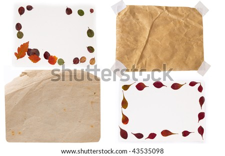 collection of paper notes - stock photo