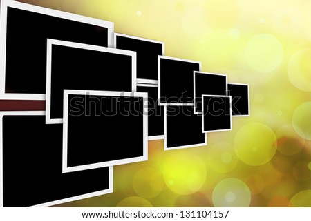 Collection of photos frame in move - stock photo