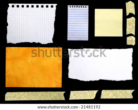 Collection of pieces of paper - stock photo