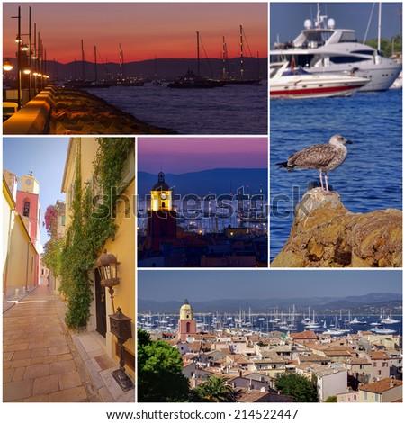 collection of Saint Tropez France photos - stock photo