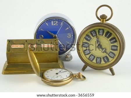 collection of timepieces - stock photo