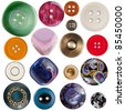 Collection of various sewing buttons - stock photo
