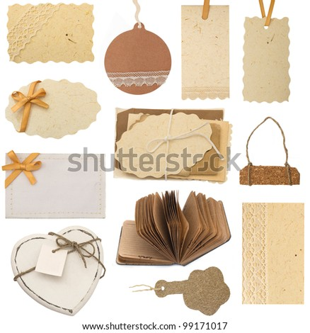 collection of various tags and labels - stock photo