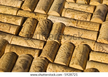 collection of wine corks - stock photo