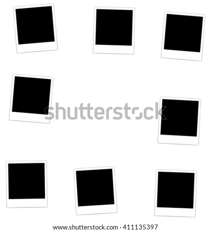 Collection photo frame for design scrapbook space for your text - raster - stock photo