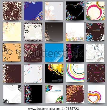 Collection posters ( cd cover format ) - stock photo