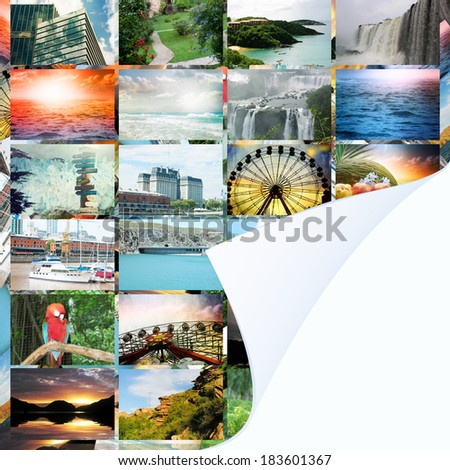 Collection travel photos - stock photo
