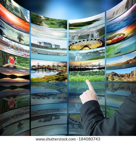Collection travel photos - stock photo