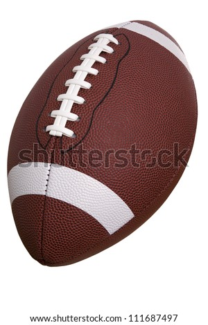 College football isolated on white - stock photo