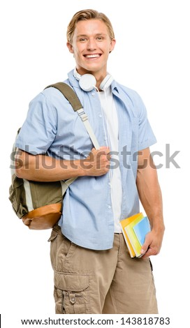 College student back to school happy - stock photo