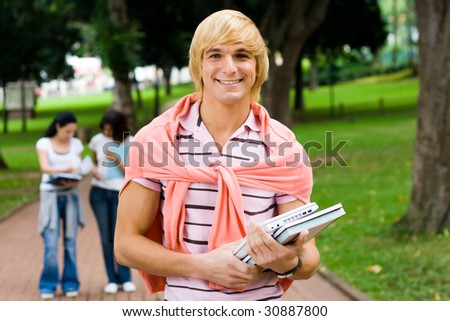 college students - stock photo