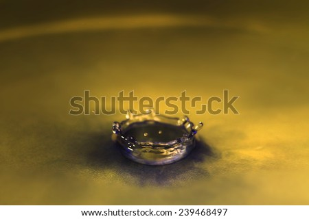 Collision of ink and water.  - stock photo