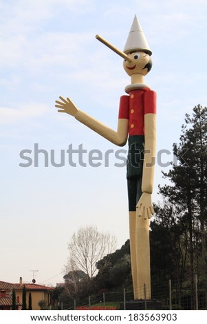 collodi hometown Pinocchio - stock photo