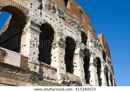 colloseum at rome - stock photo