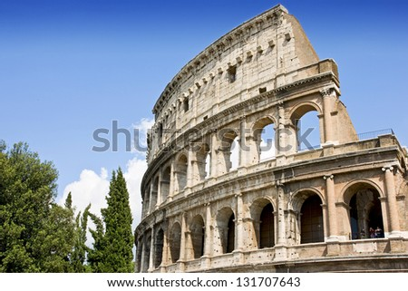 Colloseum in Rome - stock photo