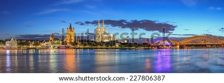 Cologne city skyline at Germany - stock photo