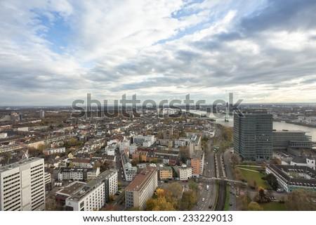 cologne cityscape - stock photo