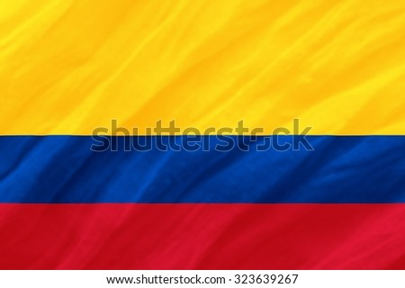 Colombia Flag - stock photo