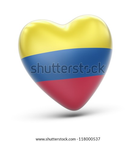 colombia  Full collection of icons like that is in my portfolio - stock photo