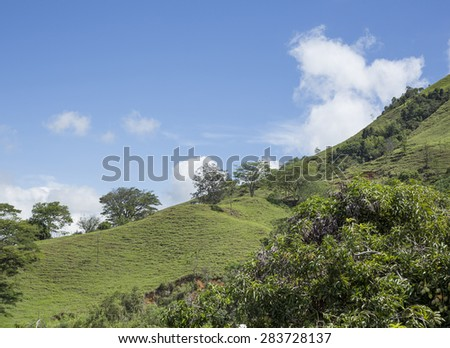 Colombian landscape  - stock photo