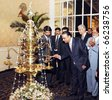 COLOMBO, SRI LANKA - NOV 29: President, Asif Ali Zardari, lightens traditional oil lamp before his address to the Pakistan-Sri Lanka Business Forum at Local Hotel on November 29, 2010 in Colombo. - stock photo