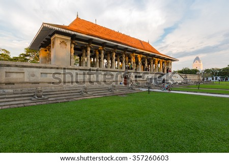 COLOMBO, SRI LANKA - OCTOBER 22, 2014: Independence hall in Colombo was opened on 4 February 1948 as a symbol of liberation of Sri Lanka from the UK Board. - stock photo