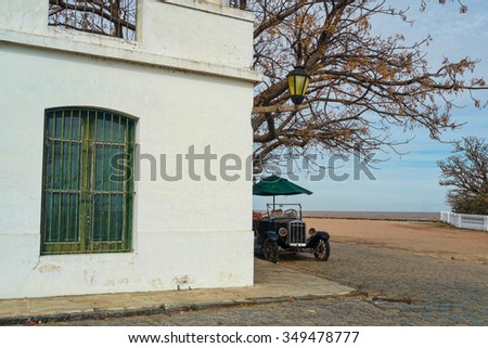 Colonia del Sacramento old town, Uruguay, South America - stock photo