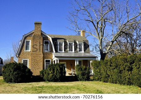 Colonial architecture in Virginia - stock photo