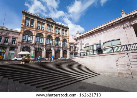 Colonial city Zacatecas, Mexico - stock photo