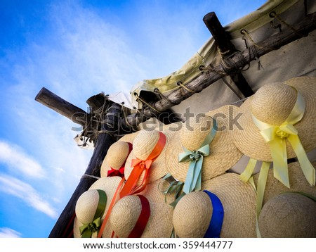 Colonial Hats - stock photo