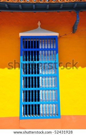 Colonial house window, Trinidad, Cuba - stock photo