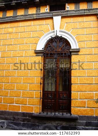 Colonial style window in Guadalajara, Mexico - stock photo
