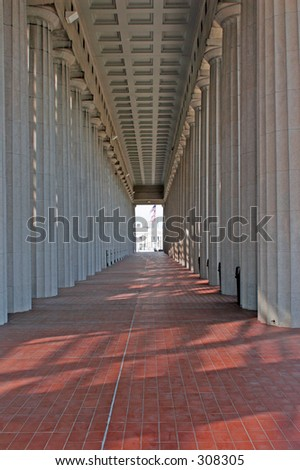 Colonnade - stock photo