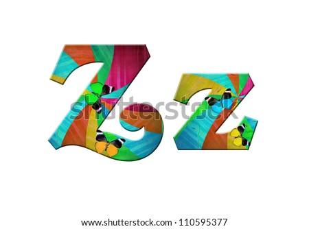 color alphabet - stock photo