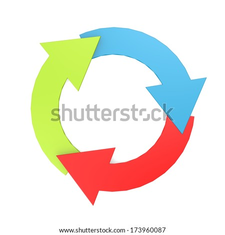 Color arrow circle - stock photo