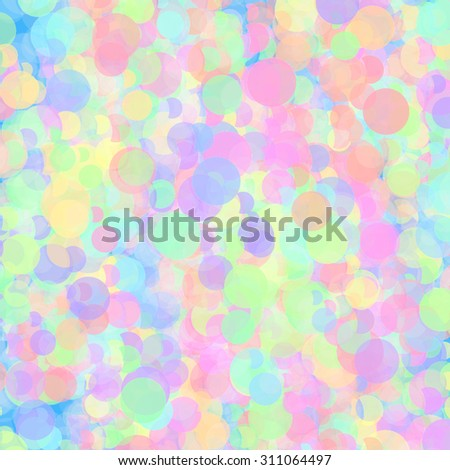 Color background with abstract colorful circles pattern - stock photo