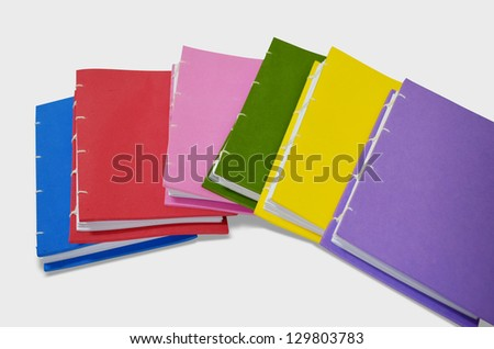 color book isolated on white background - stock photo