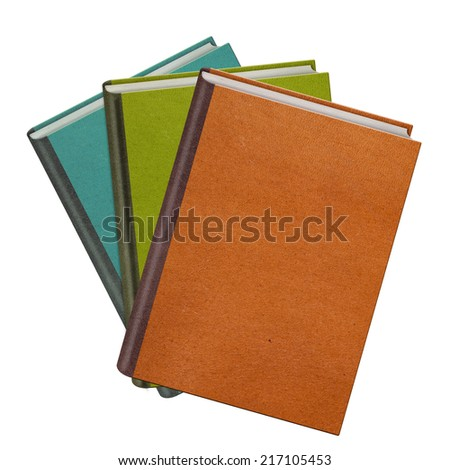 Color books isolated on white background - stock photo