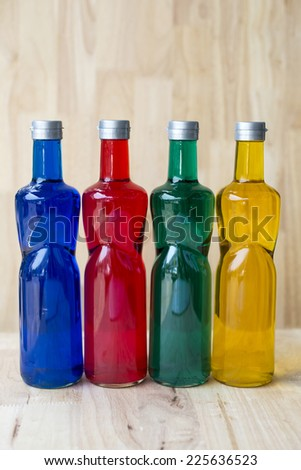 Color bottle isolated - stock photo