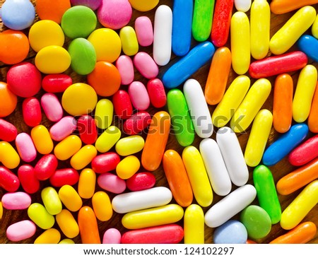 color candy - stock photo