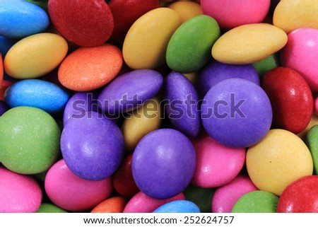 color candy background - stock photo