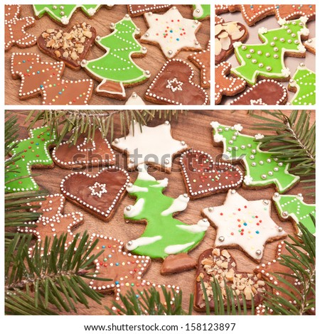 Color christmas cakes - stock photo