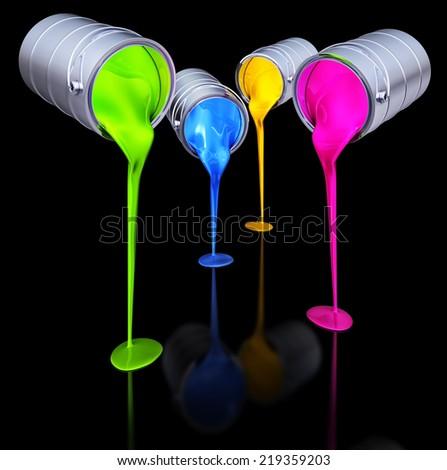 color concept - stock photo