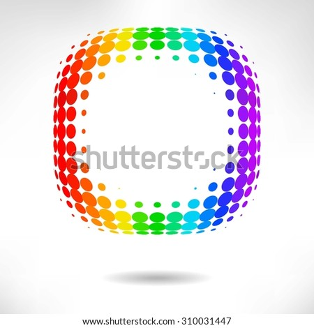 color dot background. abstract  halftone background. raster version - stock photo