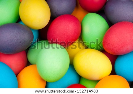 color eggs for holiday easter, background - stock photo