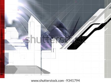 color & form composition - stock photo