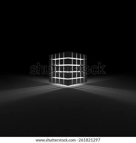 Color glowing cubes - stock photo