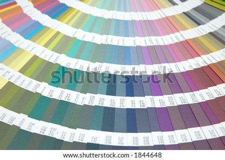 Color guide for design - stock photo