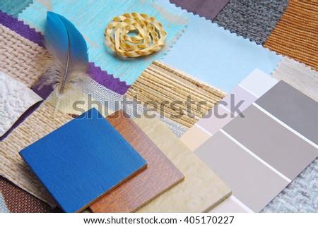 color harmonisation for interior - stock photo