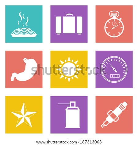 Color icons for Web Design and Mobile Applications set 29. - stock photo